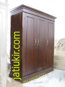 Almari Jati Minimalis 3 Pintu