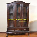 Almari Pajangan Chippendale-Karya furniture jepara