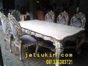 Kursi makan  ukir style baroque