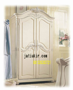 Almari Baju 2 pintu cat duco