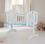 Ayunan Bayi Minimalis Putih