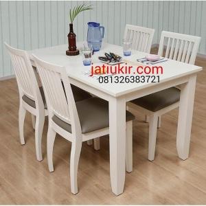 Kursi Makan Minimalis cat duco putih