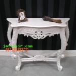 Meja Dinding Cat Duco putih
